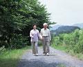 タイトル:散歩をする老夫婦