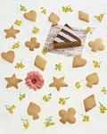 クッキーと花