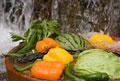 タイトル:スイカと野菜