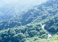 タイトル:山並にある道路