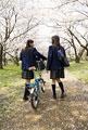 タイトル:桜と女子高生
