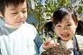 タイトル:プランターを持つ子供