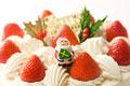 タイトル:クリスマスのデコレーションケーキ