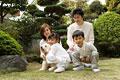 タイトル:家族と犬