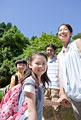 タイトル:笑顔の家族4人