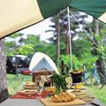 タイトル:アウトドアのテント
