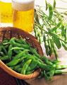 タイトル:生ビールと枝豆