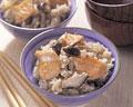 タイトル:鮭ときのこの炊き込みごはん