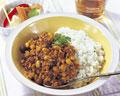タイトル:レーズンと大豆のホットカレー