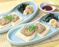 タイトル:豆腐とひき肉の重ね蒸し