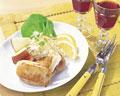 タイトル:チキンとカマンベールの重ね焼き