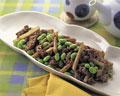 タイトル:枝豆と牛肉の中華炒め
