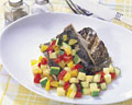 タイトル:白身魚のカラフルソース