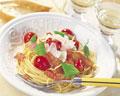 タイトル:プチトマトとベーコンのスパゲッティ