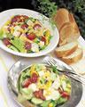 タイトル:夏野菜とチーズのサラダ