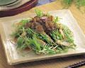 タイトル:水菜と豚肉のサラダ