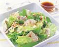タイトル:きぬさやと豚肉のサラダ