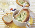 タイトル:フランスパンとオニオングラタンスープ