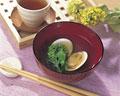 タイトル:菜の花とはまぐりの潮汁
