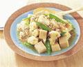 タイトル:高野豆腐とカリフラワーの炒め物