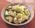 タイトル:ジャガイモと鶏肉の炒め物