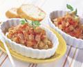 タイトル:ヒヨコ豆とベーコンのトマト煮