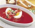 タイトル:トマトと卵のコンソメスープ
