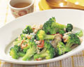 タイトル:ブロッコリーとカニの炒め物