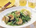 タイトル:小松菜とエビの炒め物