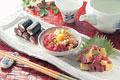 タイトル:マグロ料理(鉄火巻き・マグロ納豆・アボガドマグロ)