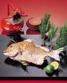 タイトル:おせち料理(タイの塩焼き)