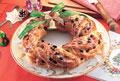 タイトル:パンで作ったクリスマスリース