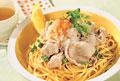 タイトル:豚肉と大根おろしのスパゲッティ