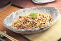 タイトル:納豆と挽肉のスパゲッティ