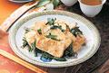 タイトル:焼き豆腐とほうれん草の中華炒め
