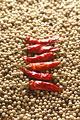 タイトル:赤唐辛子と白胡椒