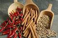 タイトル:赤唐辛子とシナモンと白胡椒