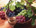 タイトル:4種類のブドウとワイン(巨峰・レッドグローブ・デラウエア・マスカット)