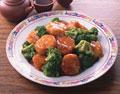 タイトル:ホタテとブロッコリーの炒め物