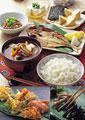 タイトル:和風の朝食イメージ・コラージュ