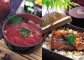 タイトル:丼物ご飯のイメージ・コラージュ