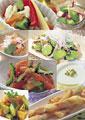 タイトル:洋風の惣菜イメージ・コラージュ
