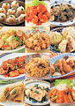 タイトル:中華料理の集合イメージ・コラージュ