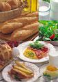 タイトル:洋風の朝食イメージ・コラージュ