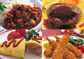 タイトル:定番洋食のイメージ・コラージュ