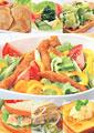 タイトル:洋食のイメージ・コラージュ