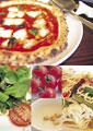 タイトル:イタリア料理のイメージ・コラージュ