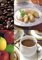 タイトル:カフェのイメージ・コラージュ