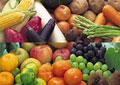 タイトル:果物の集合と野菜の集合イメージ・コラージュ