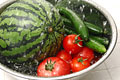 タイトル:キュウリとトマトとスイカ